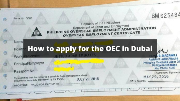 How to apply for the OEC in Dubai